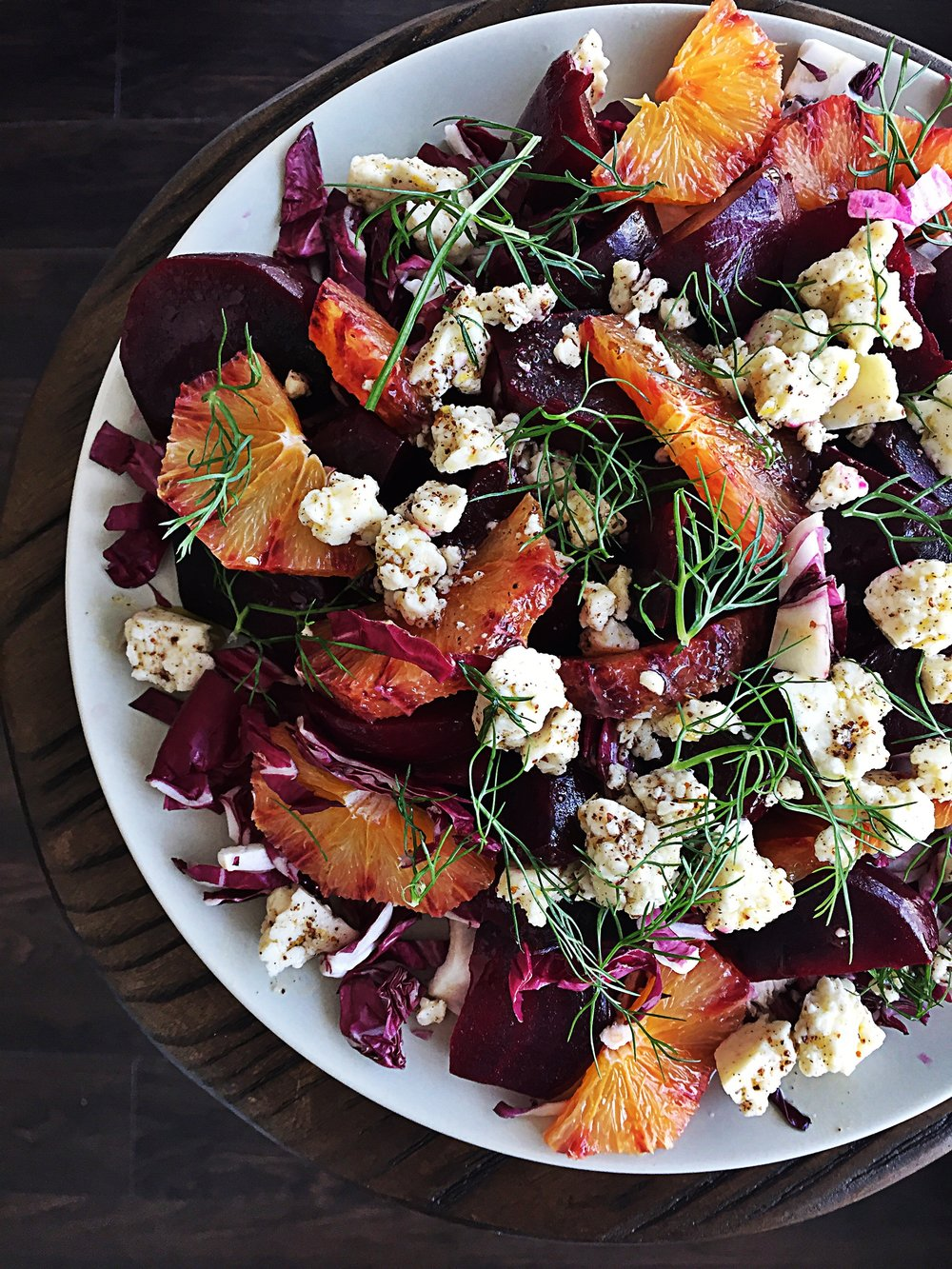 Blood Orange, Beetroot & Marinatd Feta Salad