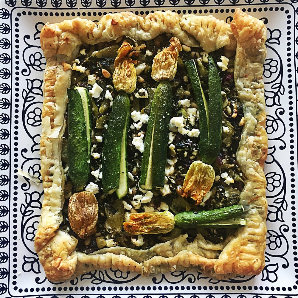 corsican tart with garden vegetables