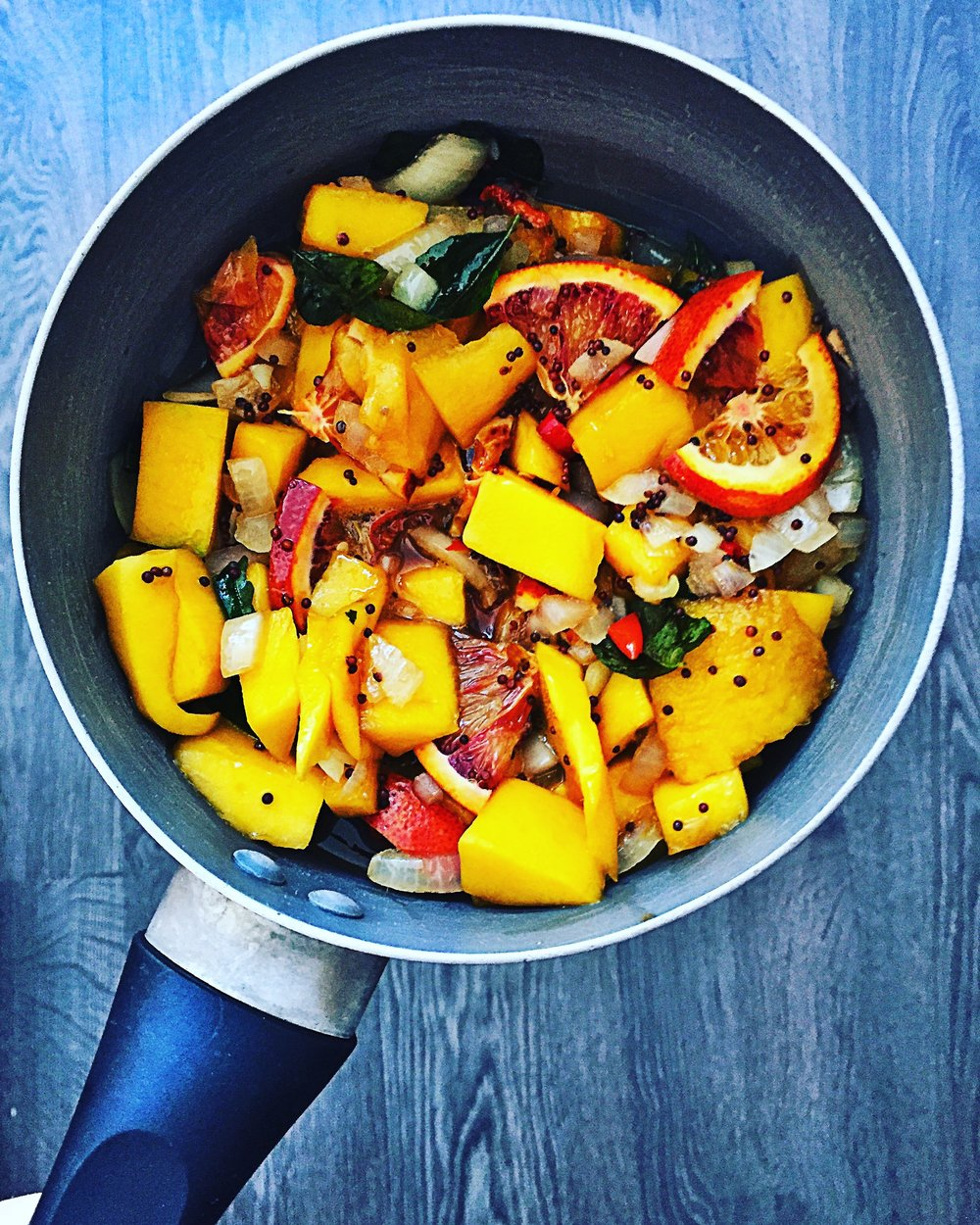 mango & blood orange chutney