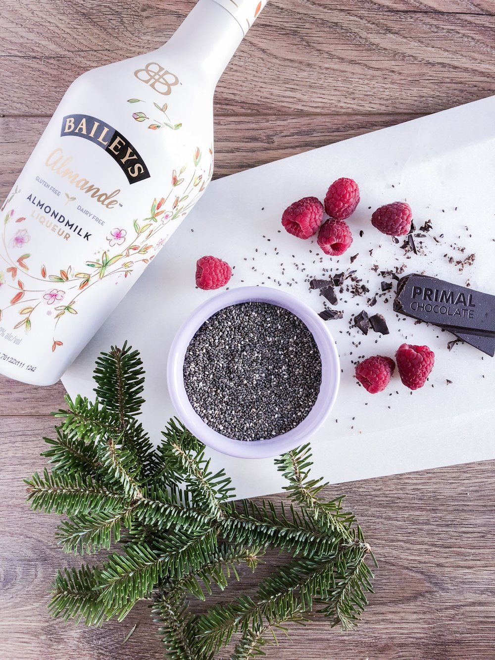 Vegan Baileys Chia Seed Pudding - Enjoy the holidays with this rich and creamy plant-based dessert made with chia seeds for an added health kick! These little seeds are packed with magic such as omega-3, antioxidants, fiber, and protein. They help support your digestive and heart health, boost your metabolism, and help your skin glow. Such power in such a tiny seed! #vegan #dessert #christmas #healthydessert #chocolate #chiaseedpudding #holidaytreat #glutenfreedessert #oilfree #baileys