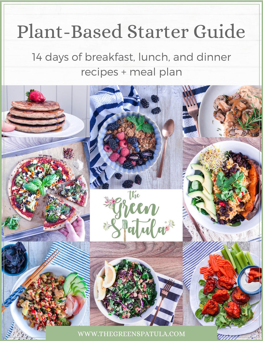 This FREE 14 Day Plant-Based Starter Guide helps you quit serial-dieting so you can enjoy food as it should be: real and delicious. Discover simple, tasty, and filling plant-based recipes like pancakes, Alfredo pasta, cauliflower buffalo bites, veggie sushi, and so much more! Use the handy meal plan to help you get started. Never rely on fad diets again. Download your FREE copy of the Plant-Based Starter Guide and discover a better relationship with food. #vegan #cleaneating #plantbased #mealplan #recipes #glutenfree #health