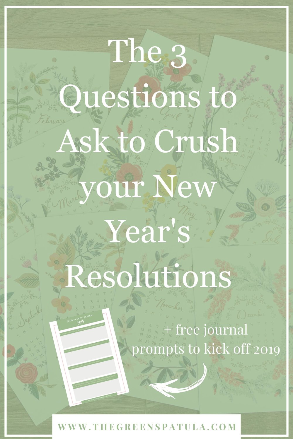 3 questions to ask to crush your New Year's resolutions - Avoid repeating the last year and set yourself up for success! Use these 3 questions to help you accomplish your New Year's resolutions. Go deeper with a free journaling download that will help you reflect and review the past year. #yearinreview #freedownload #selfcare #newyear #journal #positivemindset
