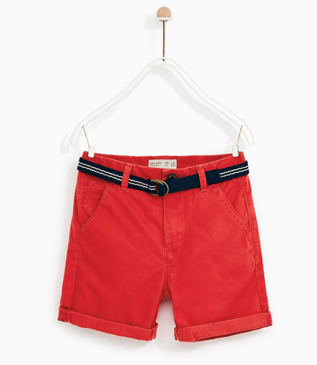 Zara Boys red chino shorts.png