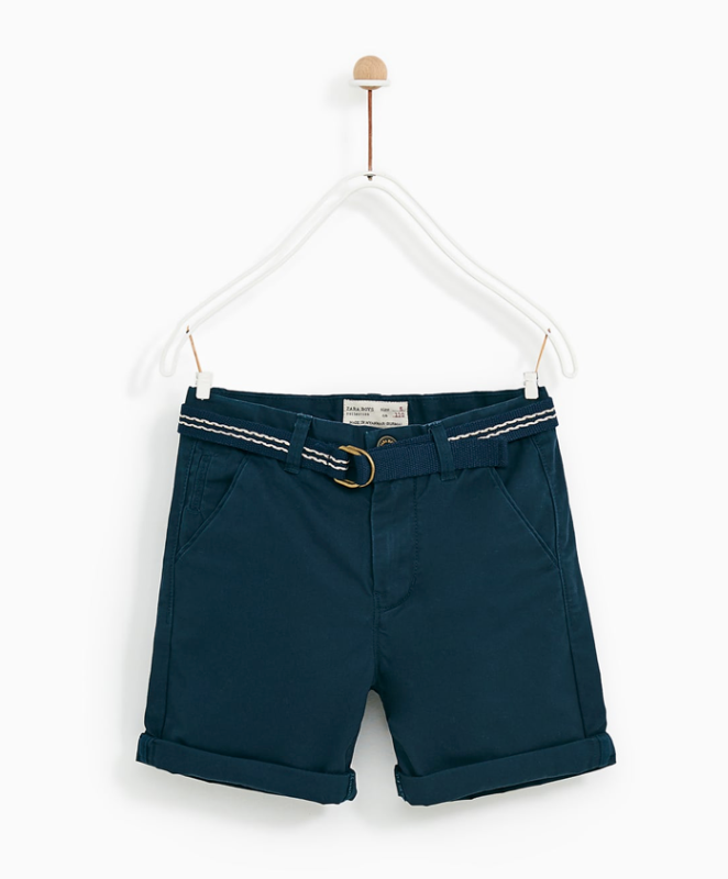 Zara Boys navy chino shorts.png