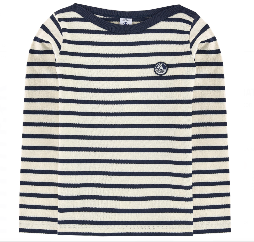 This unisex stripe boatneck from  Melijoe  is a piece we've bought more than once, in fact more like 5/6 times! All three of my children have it, when they outgrow it, we just buy it again! And because its from Petit Bateau they are perfect to be handed down, even after dozens of washes!