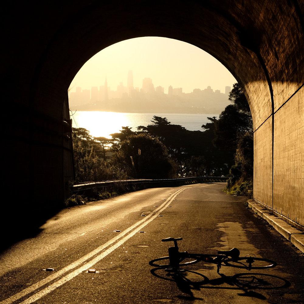 San Fran on the morning horizon.