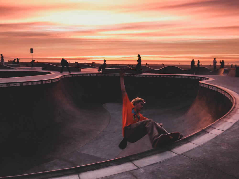 Sunsets like no others at Venice Beach