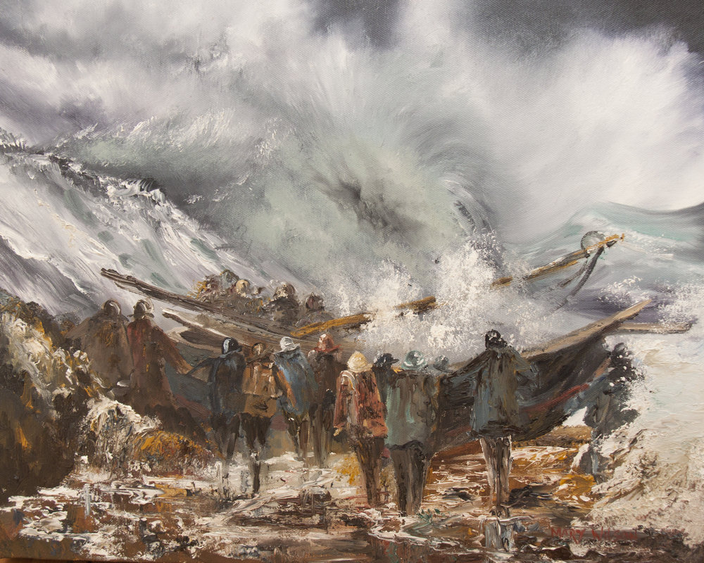 'Lauching the lifeboat'by artist Mary Wilson.jpg