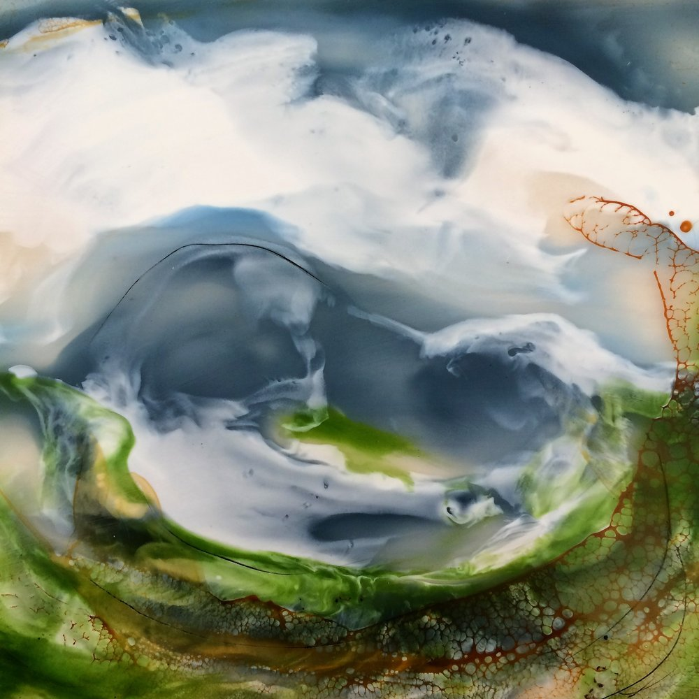 Serpents encaustic on board, Isabelle Gaborit 2017.JPG