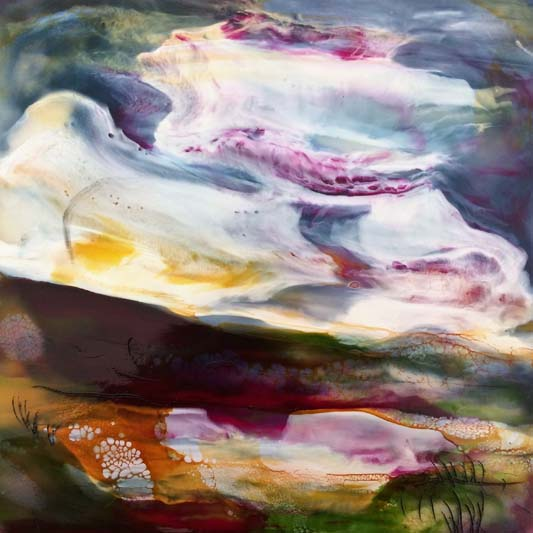 My heart is singing encaustic on board Isabelle Gaborit 2017.jpg