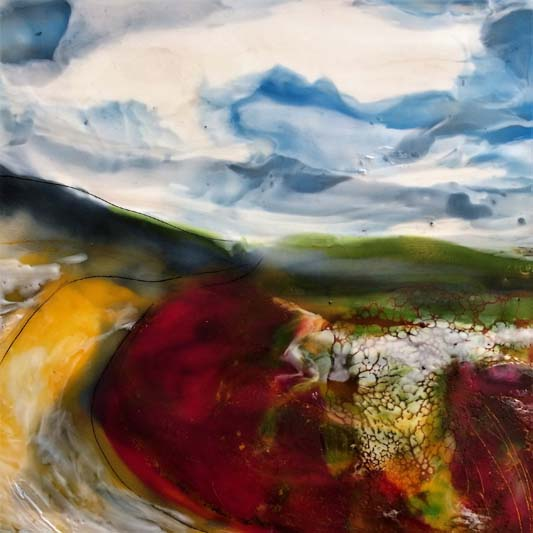 The colorful path encaustic on board Isabelle Gaborit 2017.jpg