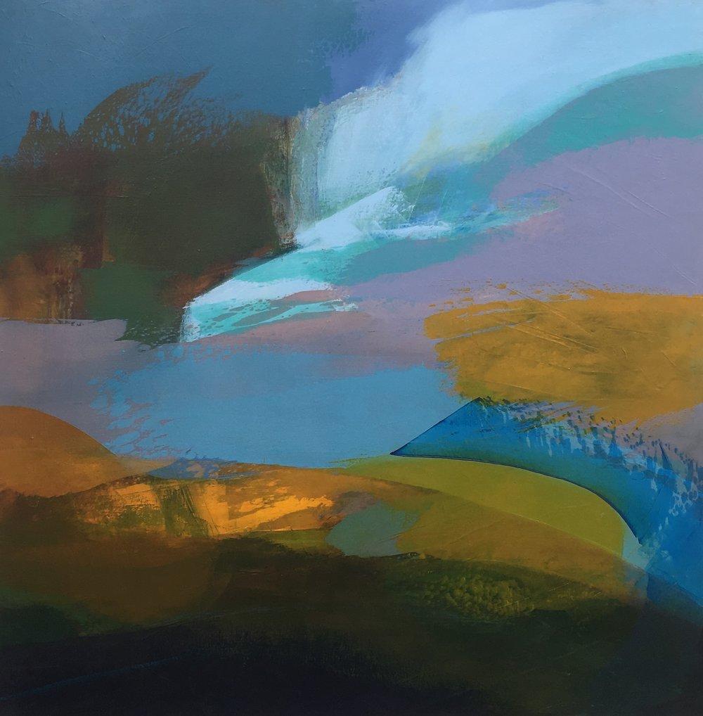 _January blue_ Bartra Blues series 1. Mixed media on canvas,100x100cms. €1,200 jpg.jpg