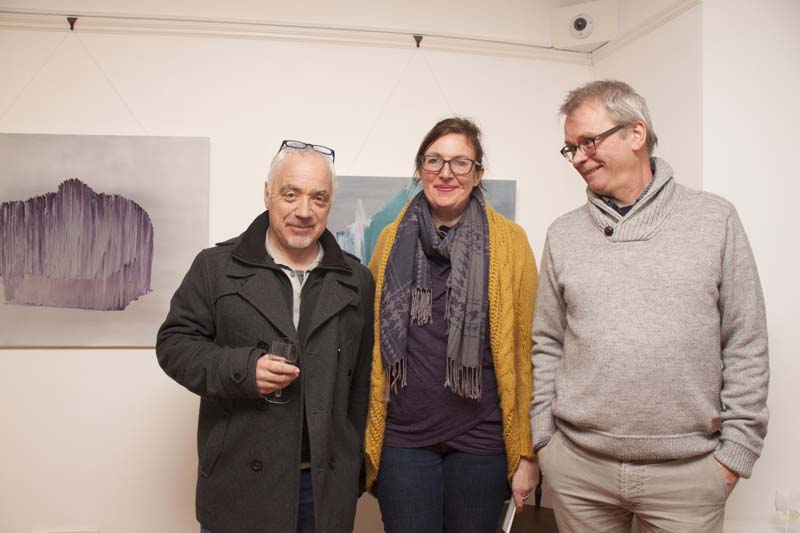 Artist John Cullen, Emma Stroude (0pened Exhibition) & chairman Louis McLoughlin at Solas Art Gallery.jpg