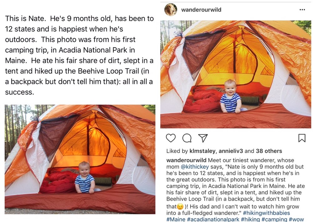On the left is Kit's email to Millie. As you can see, she included key information about where the picture was taken, as well as a short write-up, which Millie tweaked before posting.