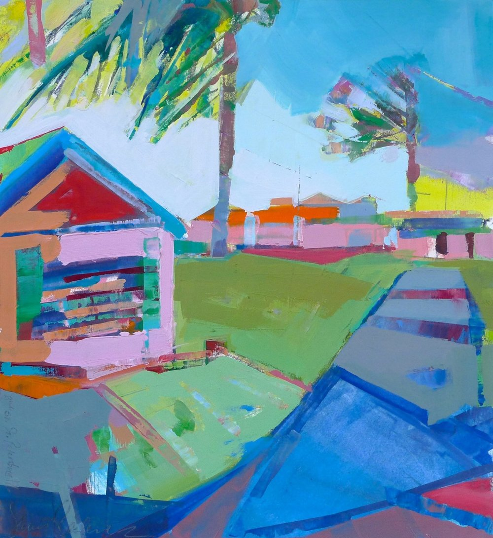 "St. Petersburg, FL  , 2015 Oil on paper 17"" x 17"""