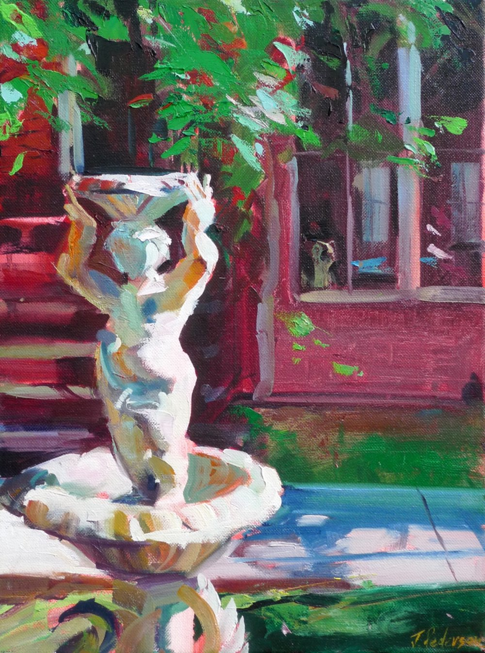 "Little Fountain,   2013 Oil 16"" x 12"" (available)"