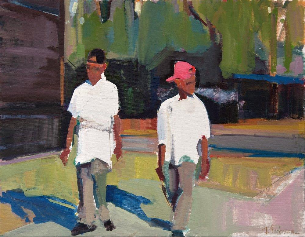 5 Minute Break  2018  Oil on canvas.
