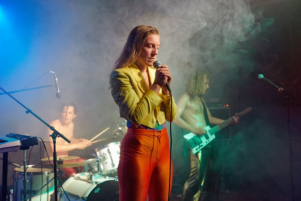 Samantha Crash  (Vocals),  Dirty Hank  (Drums),  Mixa Marble  (Bass), The Dirty Slips, Zürich 2017