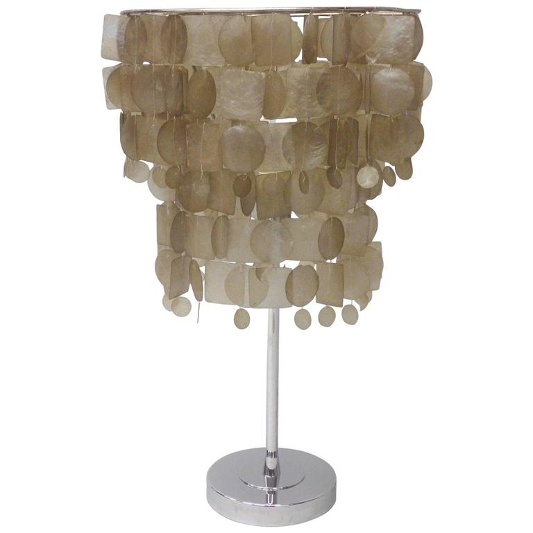 High Quality Verner Panton Style Capiz Shell Table Lamp