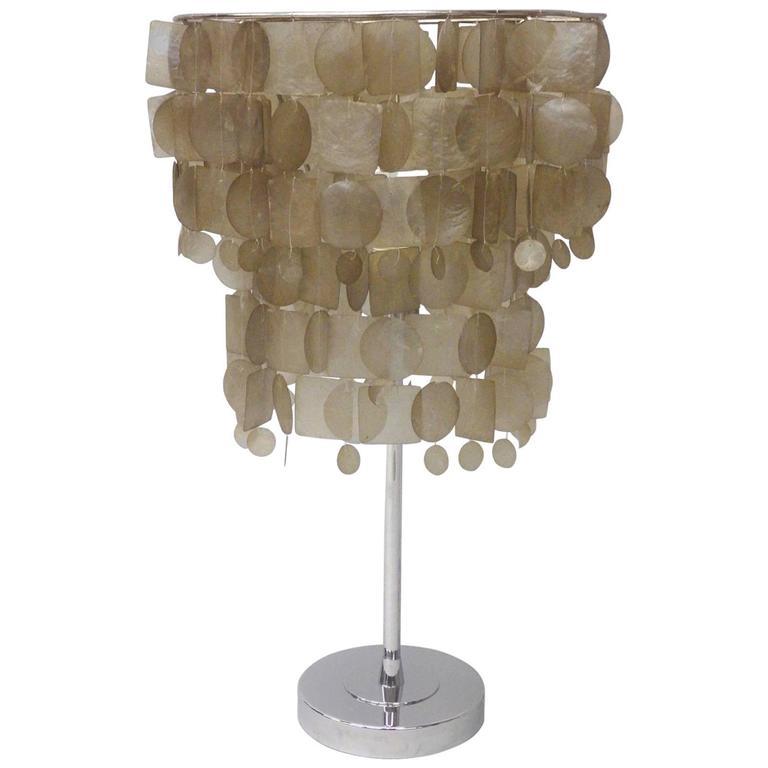 High Quality Verner Panton Style Capiz Shell Table Lamp