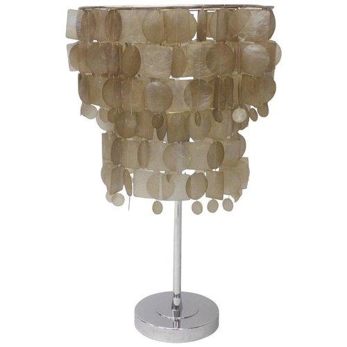 Verner Panton Style Capiz Shell Table Lamp Tom Gibbs Studio
