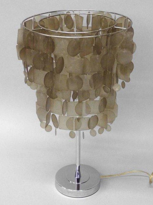 Verner panton style capiz shell table lamp tom gibbs studio capizlampd2lg aloadofball Images