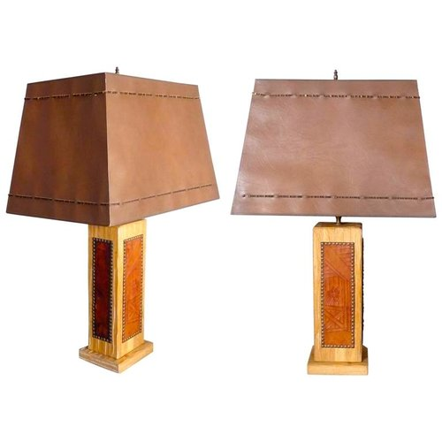 Pair of ranch oak western theme cottage lodge table lamps tom pair of ranch oak western theme cottage lodge table lamps aloadofball Images