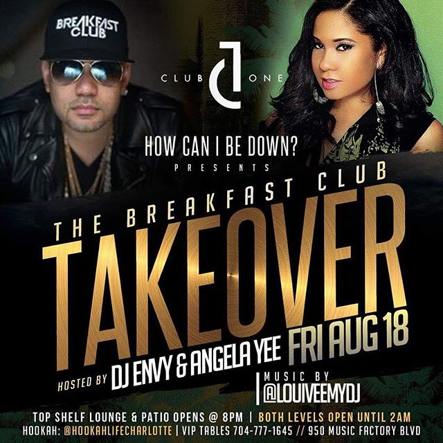"🚨 EVENT ALERT 🚨 📅 SAVE THE DATE 8•18 _____ ""How Can I Be Down"" @hcibd presents The Breakfast Club Takeover hosted by @DJEnvy & @AngelaYee 