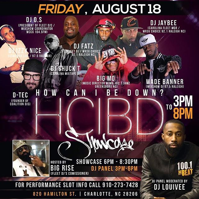 Tomorrow!!! Friday Aug 18th! @fleetdjs presents the HOW CAN I BE DOWN? Talent Showcase at The Underground •  If you're serious about being an artist in the entertainment industry, then you should be there!  #queencity #charlotte #northcarolina #howcanibedown #hcibd #hcibdthelegacy