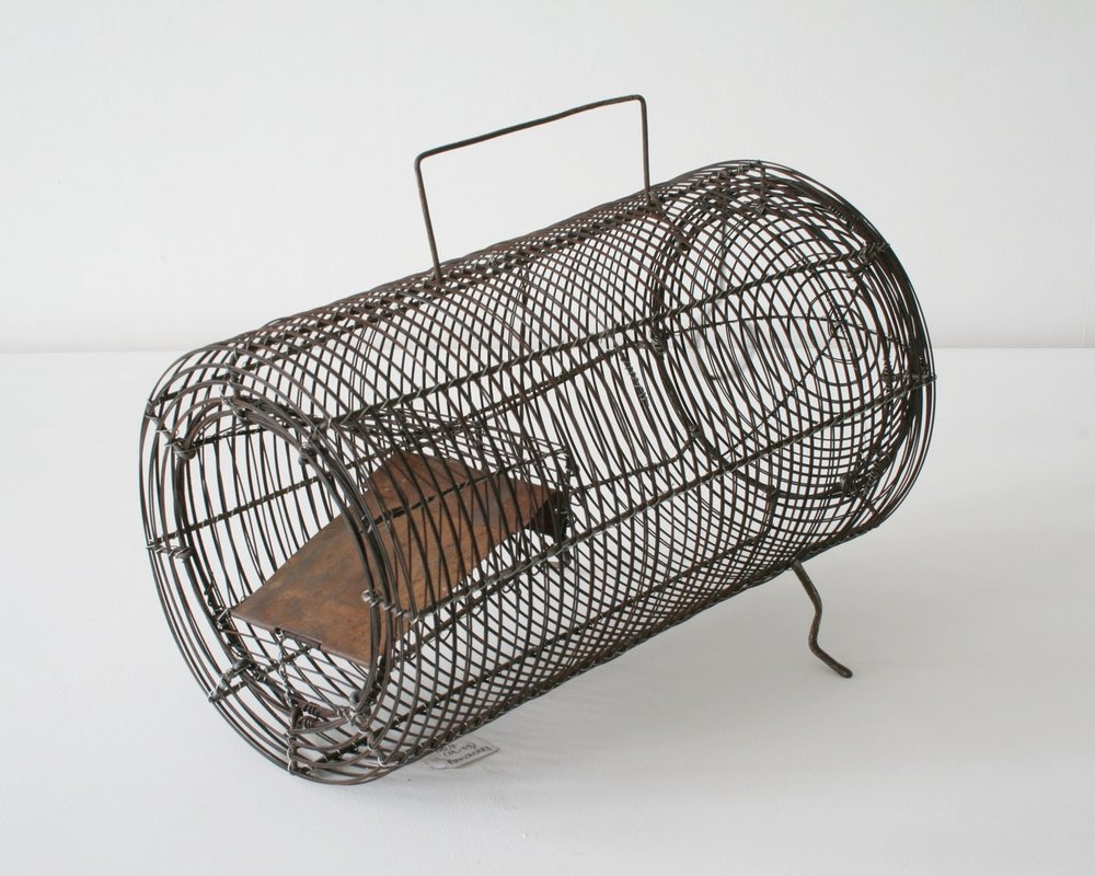 Rat trap made of scrap wire