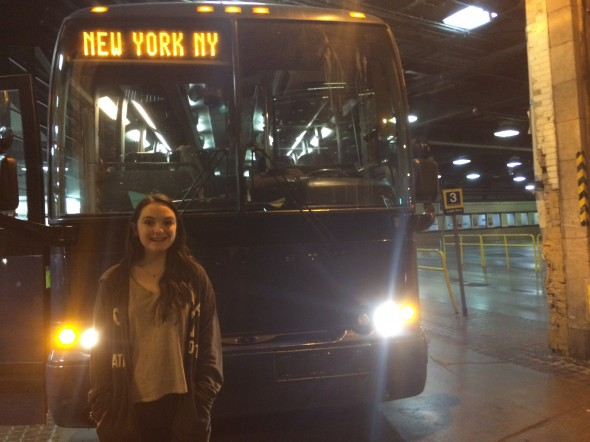 This is me, starting off our trip NYC from downtown Toronto.
