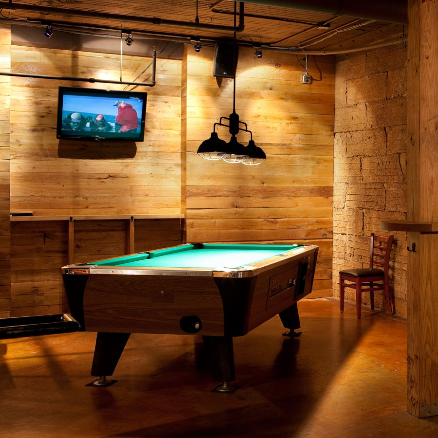 Ormsby's interior with pool table