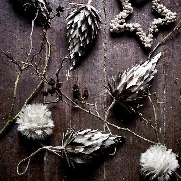 Materialval - Lätta hängen som även de tunnaste grenarna orkar bära.Med våra fina juldekorationer kan du skapa en trevlig, nedskalad julstämning. Vi har dekorationer i allt ifrån papper till sammet och glas. Tänk på att du inte behöver ha en stor julgran för att kunna hänga upp dekorationer. En tunn rumsgran eller ett par bara grenar från marken i skogen går lika bra.