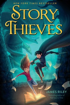 the story thieves series - This is a three book series that you won't want to miss! This series is about a girl who can jump into books. It is also about a boy she takes with her.