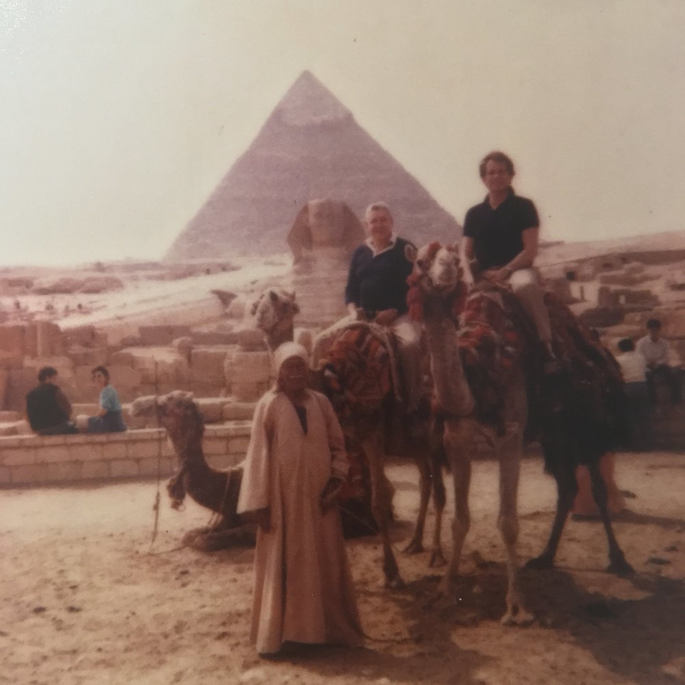 Paul Reisch and Bret Adams in Egypt. Date unknown.