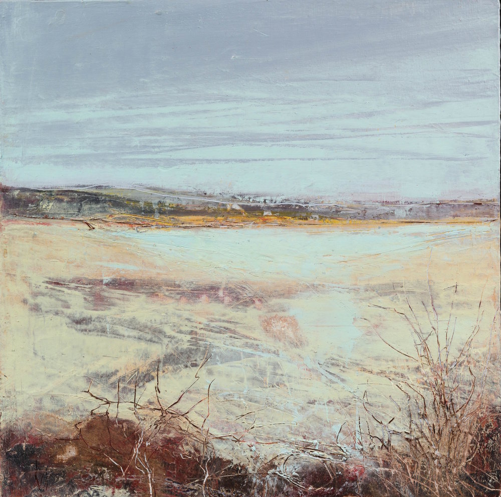 Jan Shand Winter Light 35cm x 35 cm oil and cold wax on board £500 framed signed on back.jpg