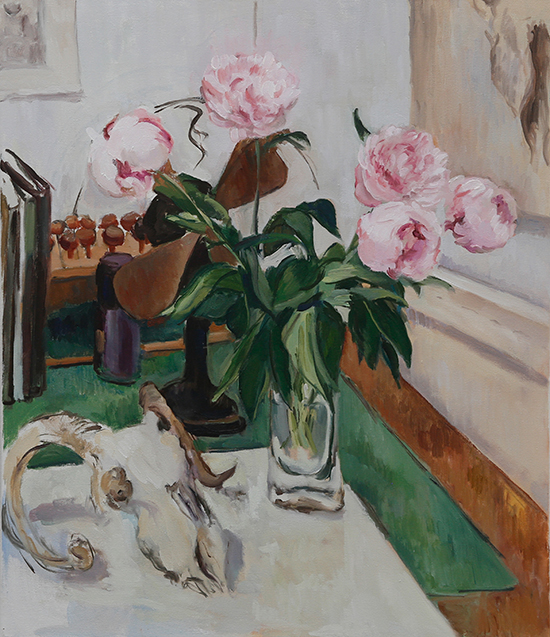 peonies and sheep skull.jpg