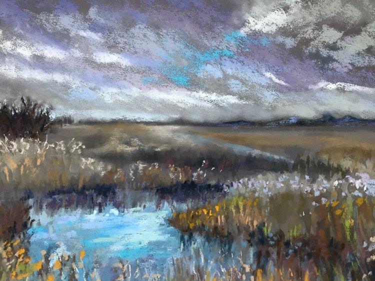 Winters Walk Across the Salt Marsh,  Bessie Millar