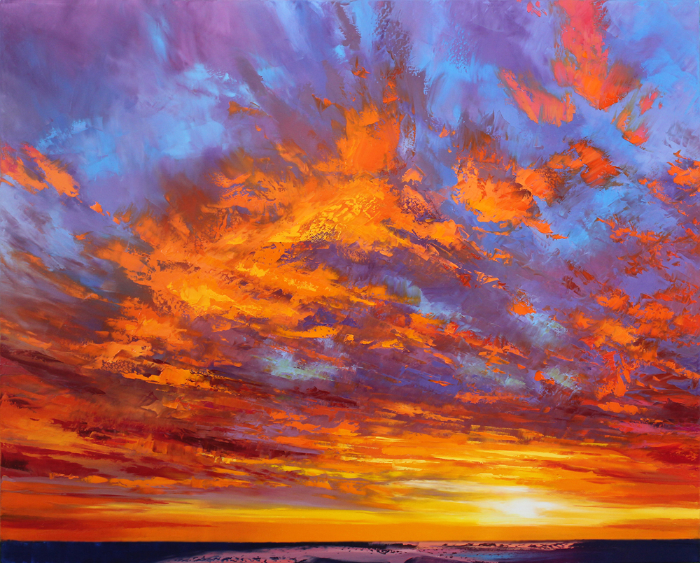Amazing sunset yesterday  80 x 100cm copy.JPG