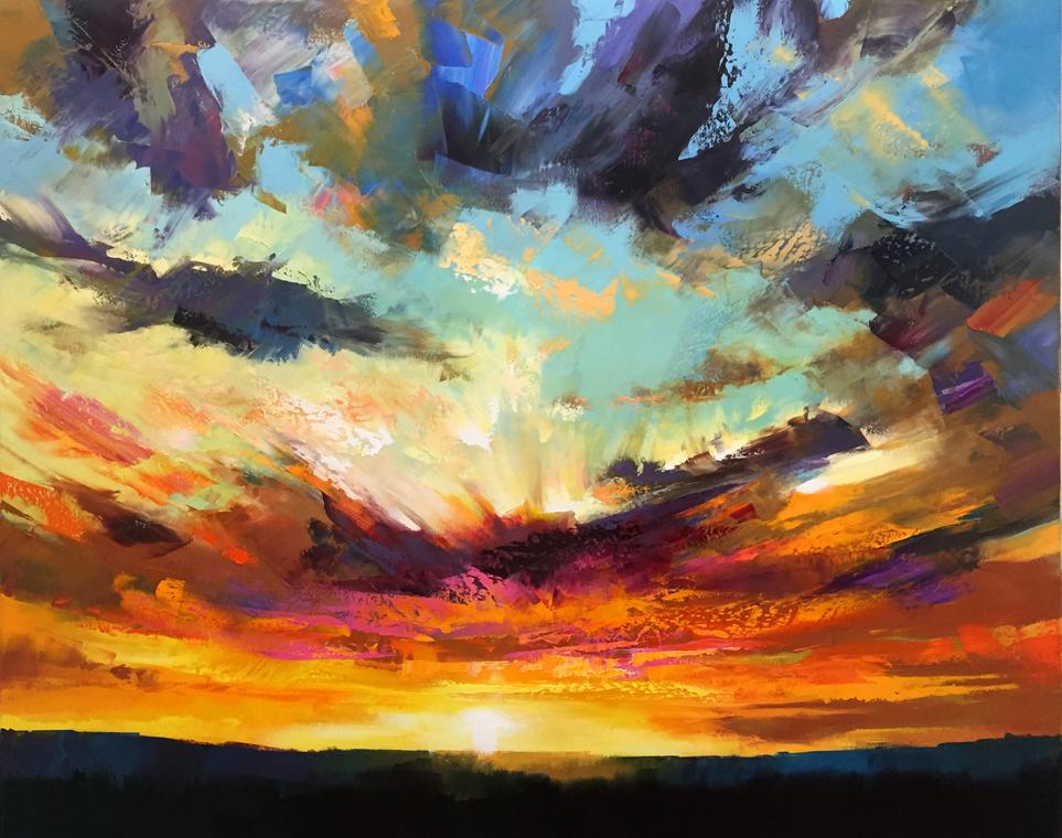 Gran Canaries Sunset                80 x 100 cm copy.JPG