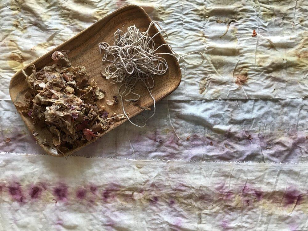 Natural dye linens