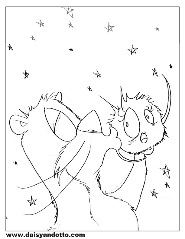 Daisy and Otto - Free Printable Coloring Pages - DO 2a.jpg