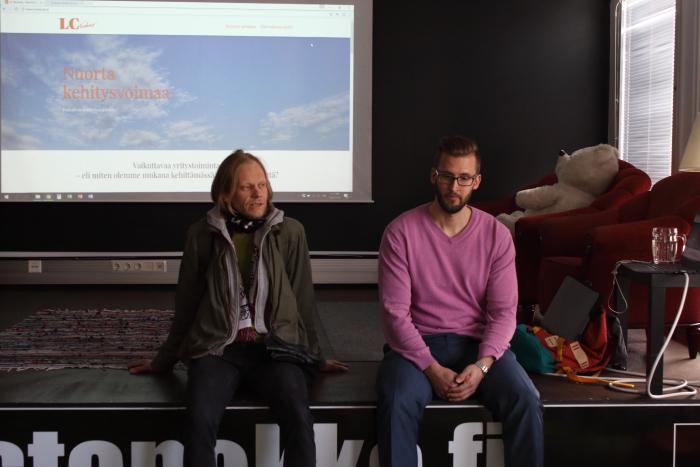 JS Herculeksen Mikko Perälä ja LC Venturesin Visa Viren