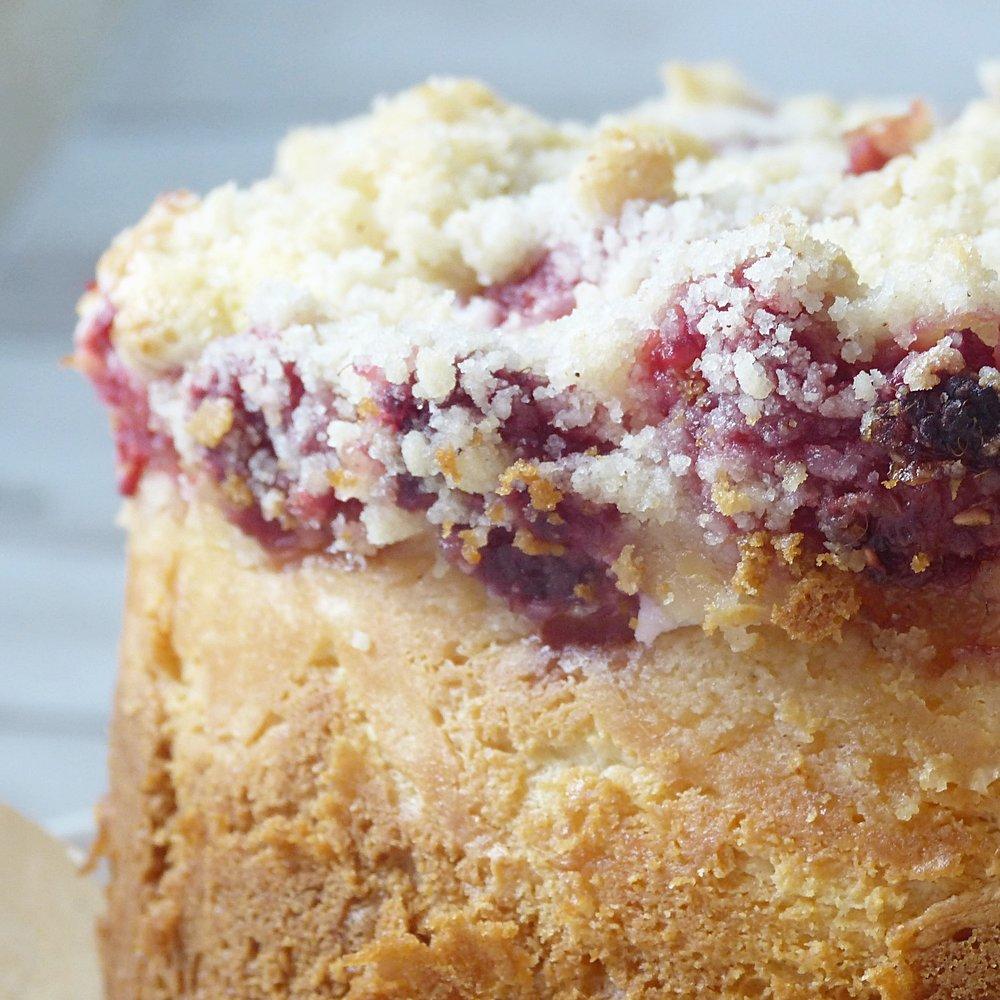 Raspberry Cream Cheese Crumb Cake -