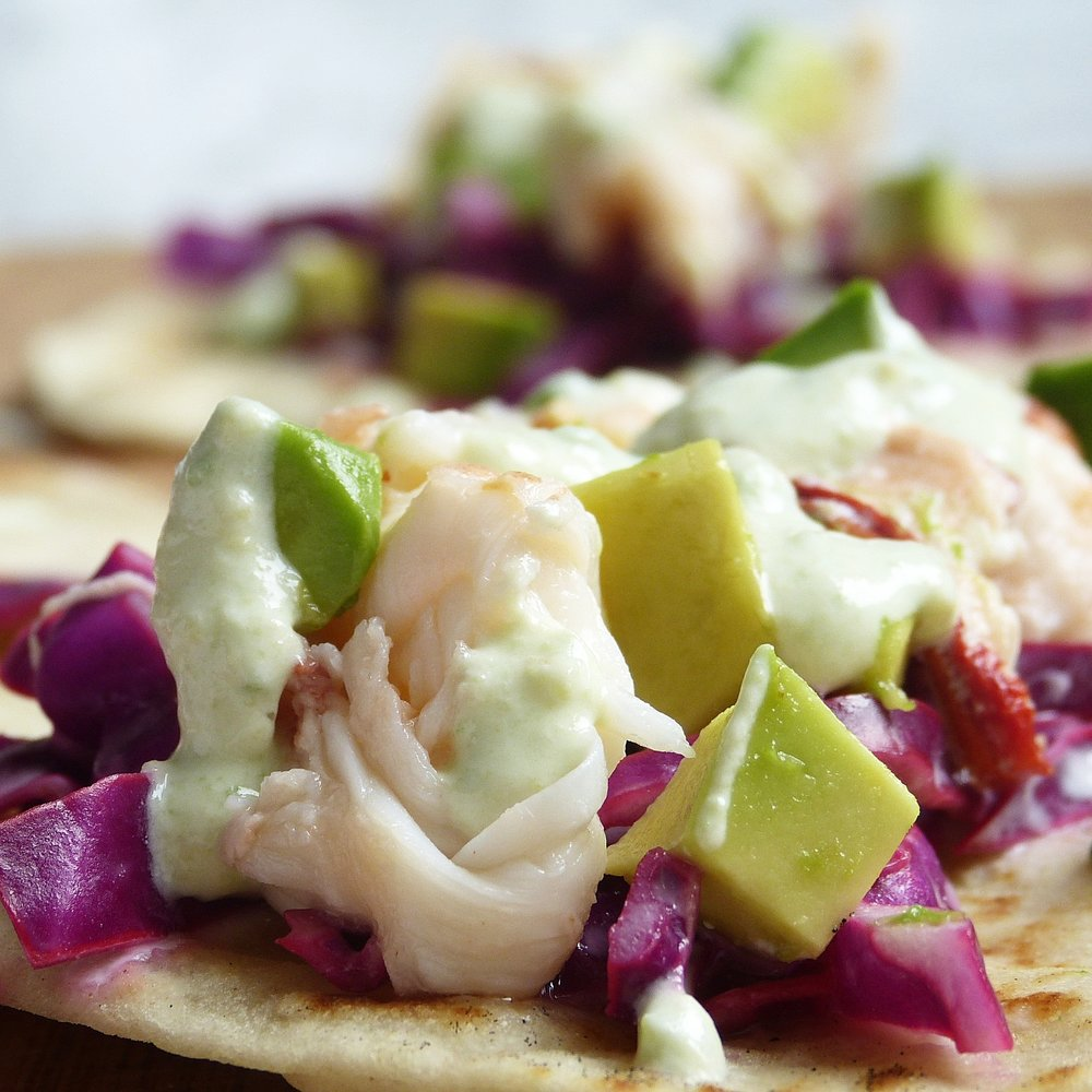 Tequila Lime Lobster Tacos -