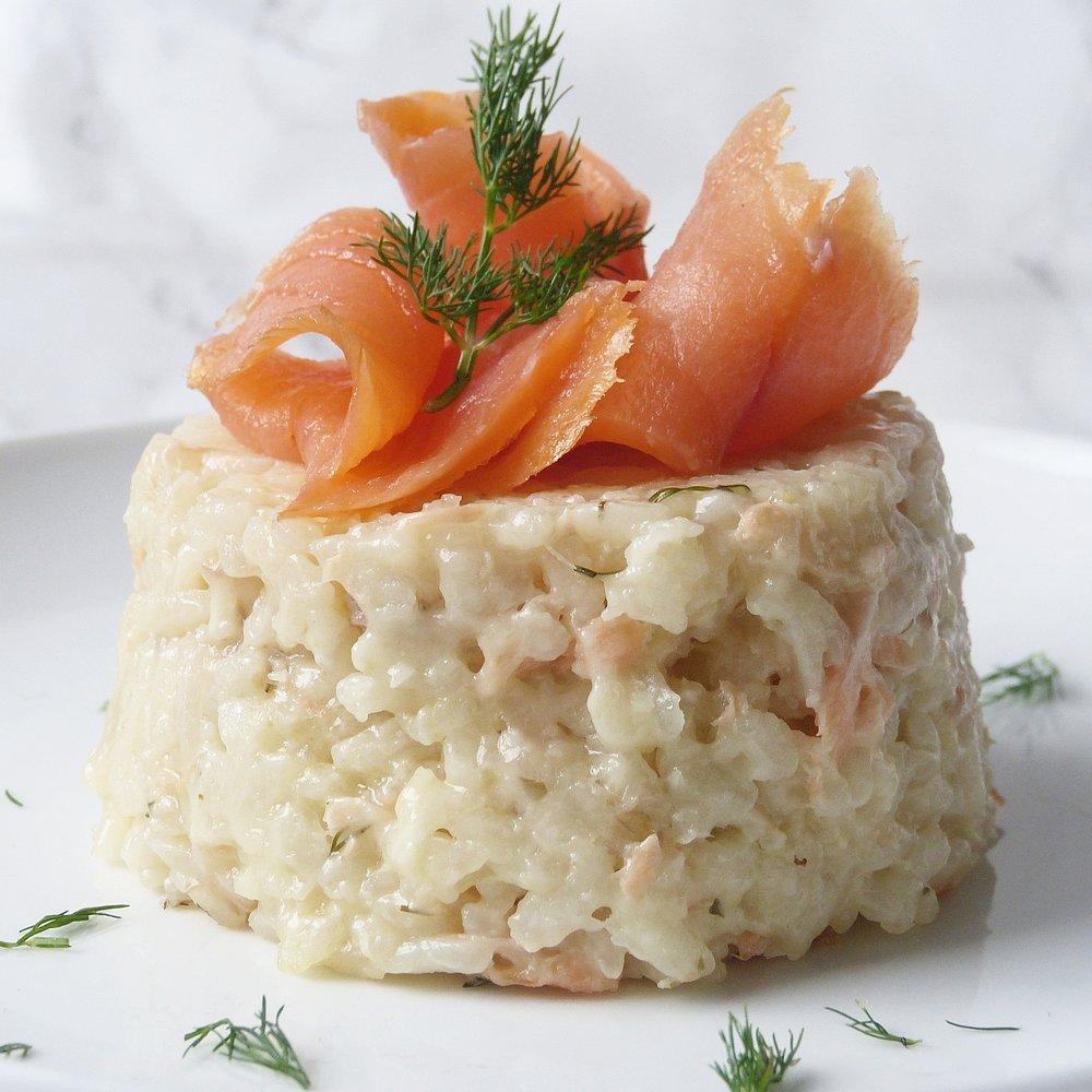 Salmon Gruyere Risotto -