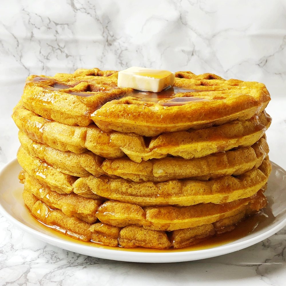 Pumpkin Spice Waffles -