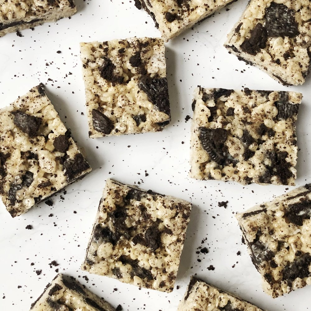 Cookies and Cream Rice Krispies Treats -