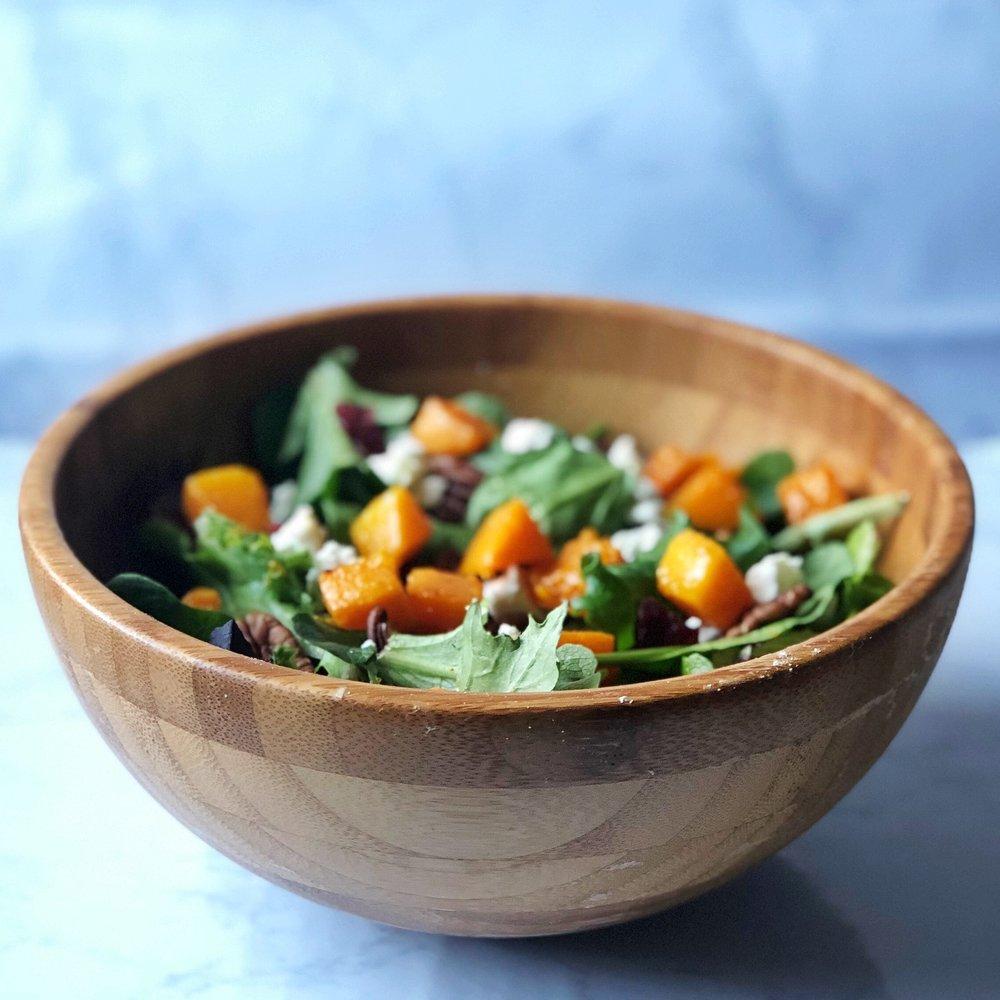 Butternut Squash & Goat Cheese Salad -