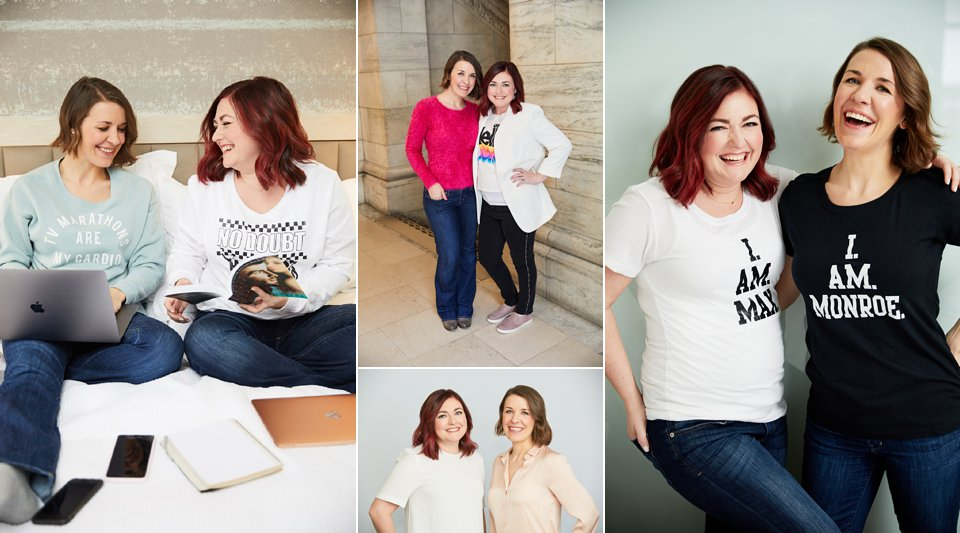 Personal Branding Shoot for author team, Max Monroe - we created new author promo headshots for them and lifestyle images to use for their social media profiles and digital content. Variety in outfits and shooting locations was key for this shoot's success!